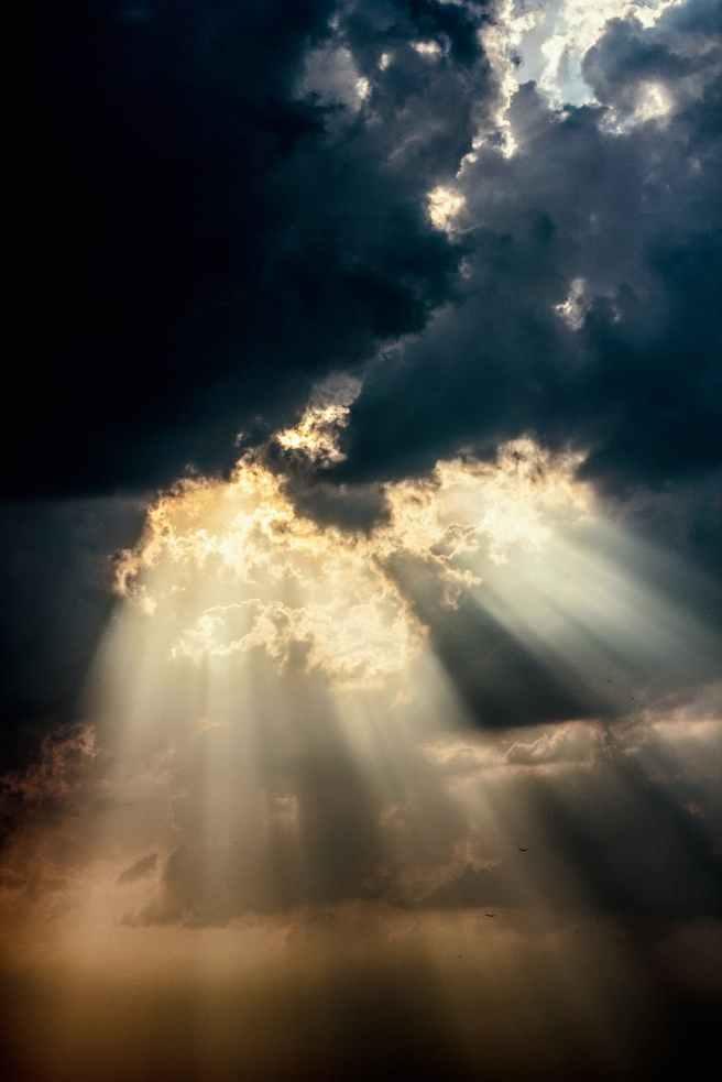 clouds dark dramatic heaven